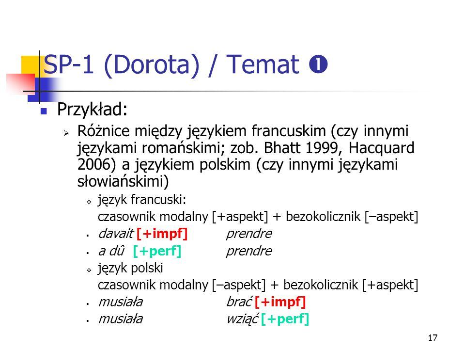SP-1 (Dorota) / Temat  Przykład: