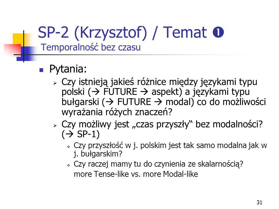 SP-2 (Krzysztof) / Temat  Temporalność bez czasu