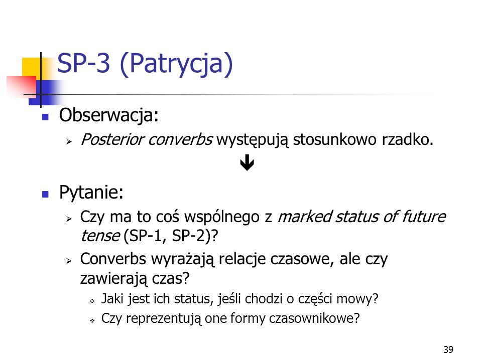 SP-3 (Patrycja) Obserwacja:  Pytanie: