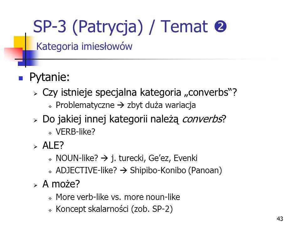 SP-3 (Patrycja) / Temat  Kategoria imiesłowów