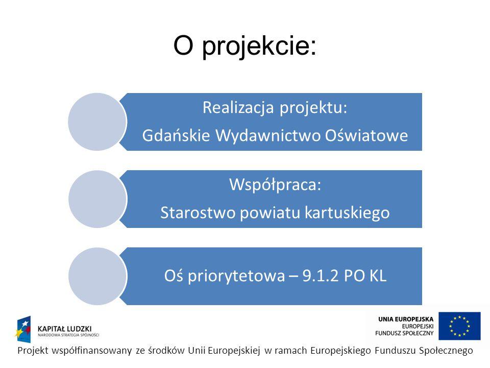 O projekcie: Gdańskie Wydawnictwo Oświatowe. Realizacja projektu: Starostwo powiatu kartuskiego. Współpraca: