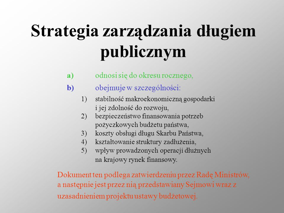 Strategia zarządzania długiem publicznym
