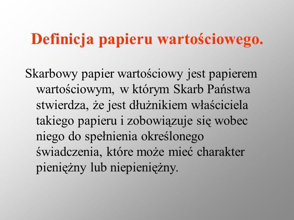 Definicja papieru wartościowego.