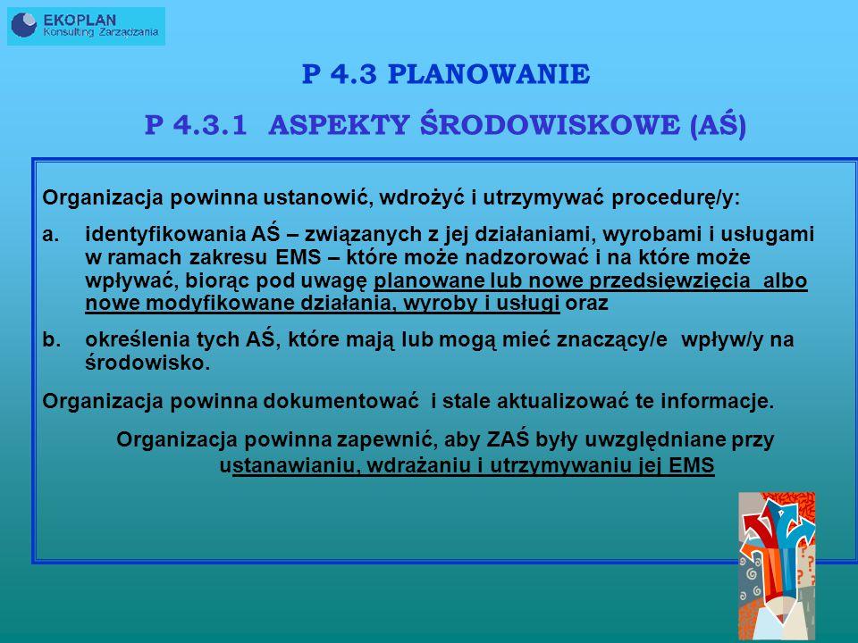 P 4.3.1 ASPEKTY ŚRODOWISKOWE (AŚ)