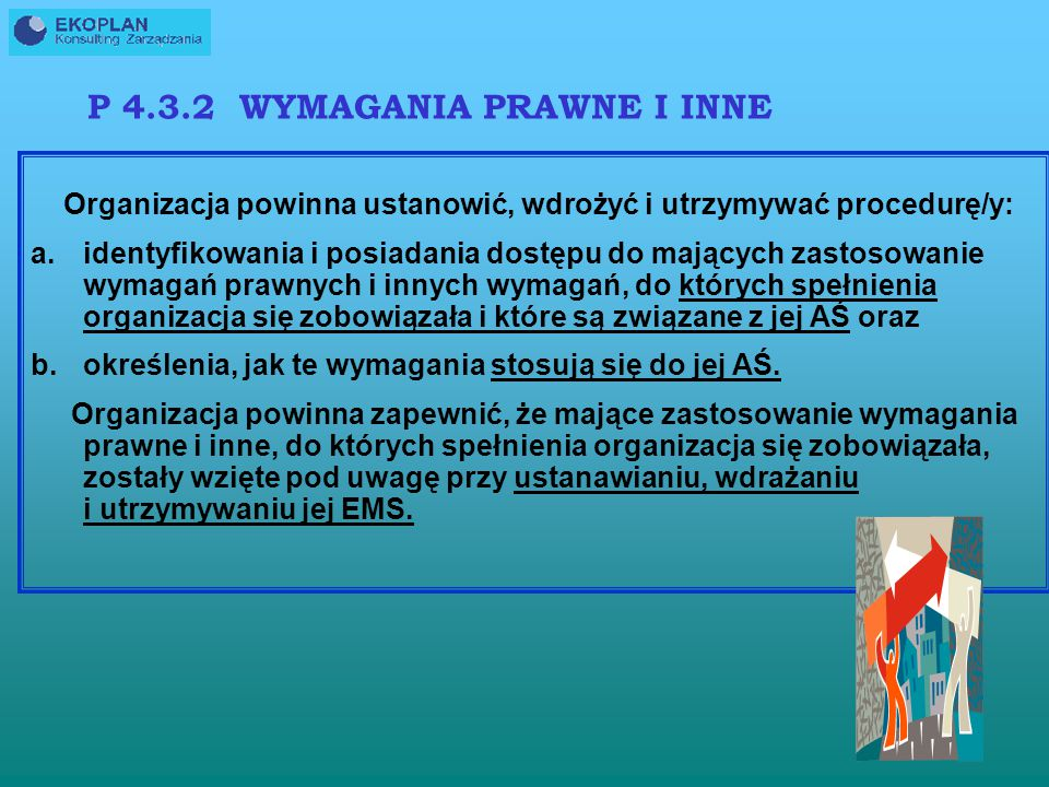 P 4.3.2 WYMAGANIA PRAWNE I INNE