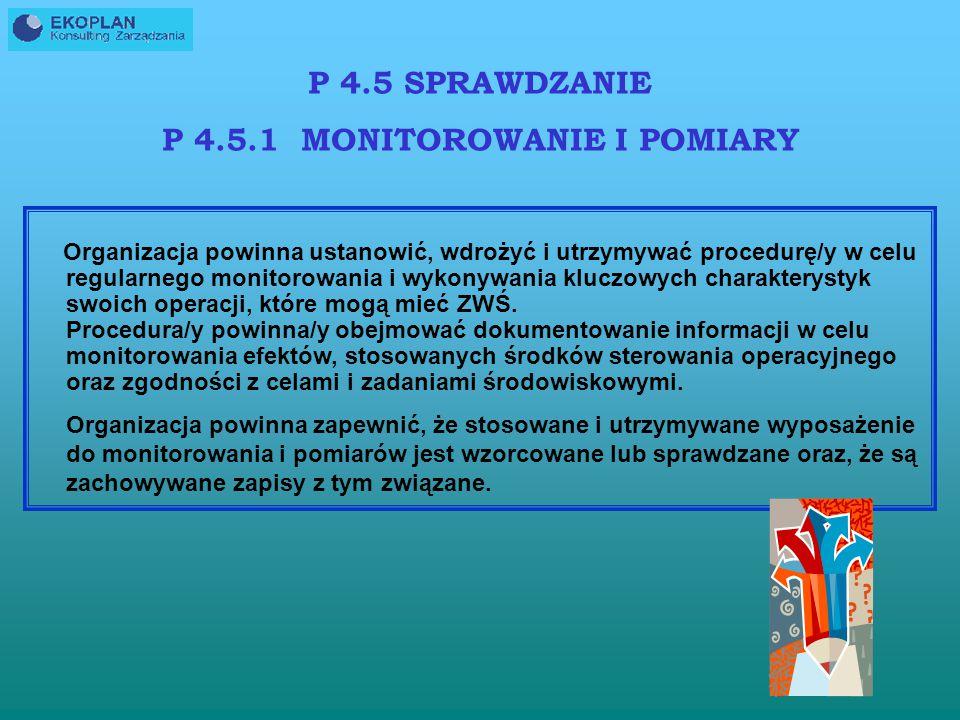 P 4.5.1 MONITOROWANIE I POMIARY