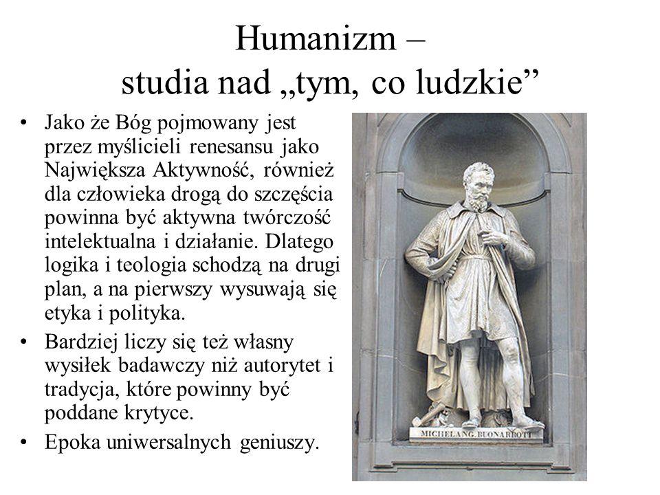 """Humanizm – studia nad """"tym, co ludzkie"""