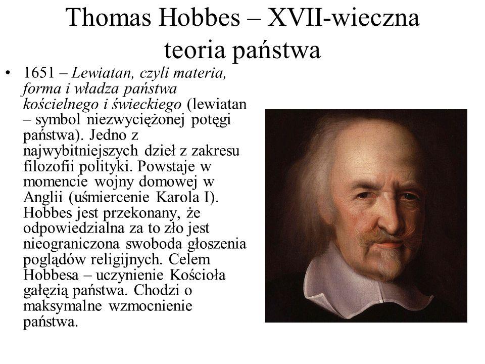 Thomas Hobbes – XVII-wieczna teoria państwa