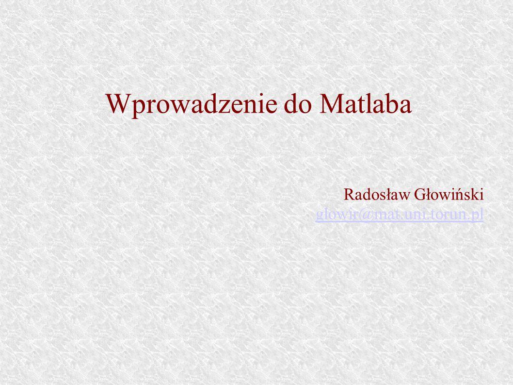 Wprowadzenie do Matlaba