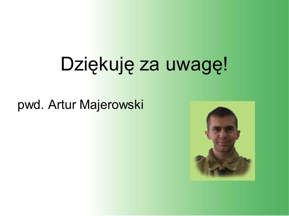 Dziękuję za uwagę! pwd. Artur Majerowski