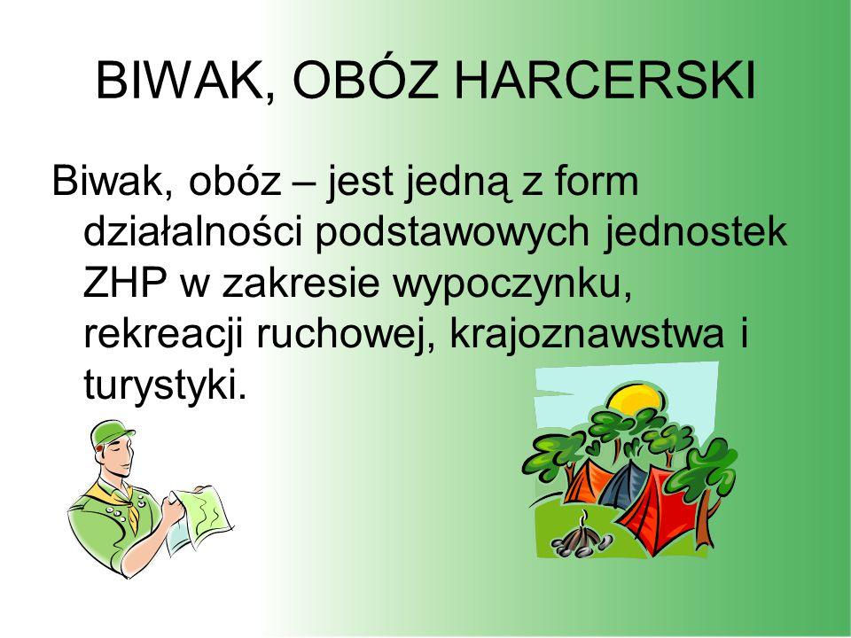 BIWAK, OBÓZ HARCERSKI