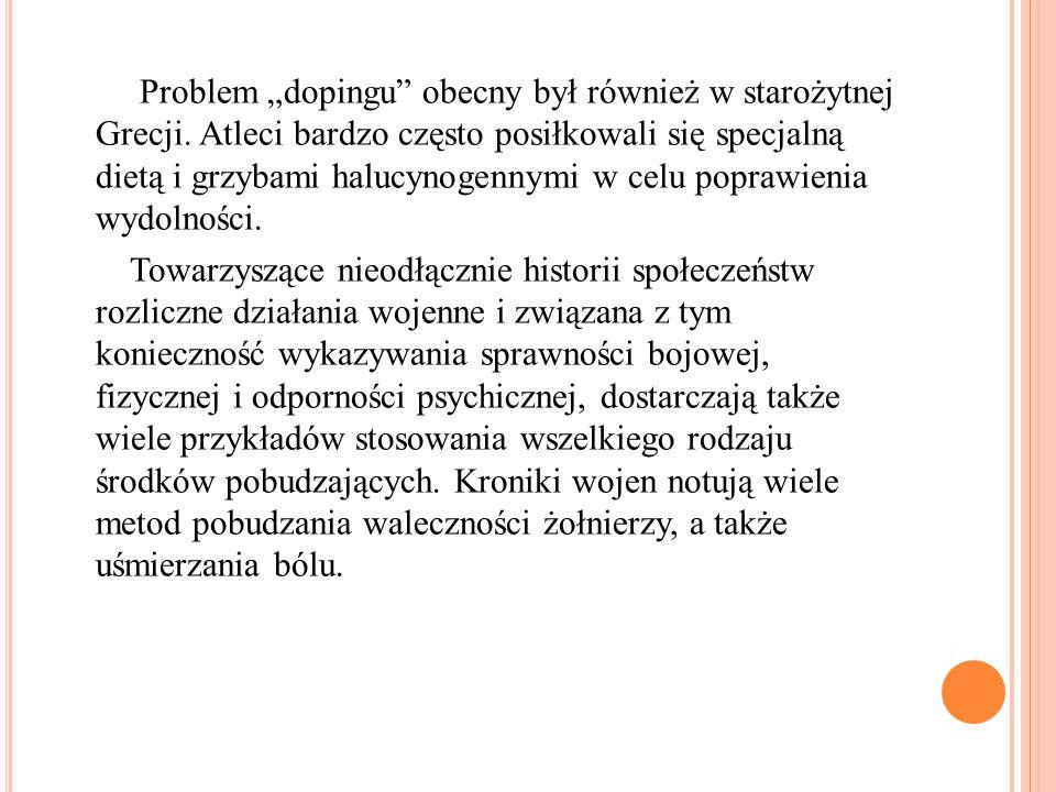"""Problem """"dopingu obecny był również w starożytnej Grecji"""