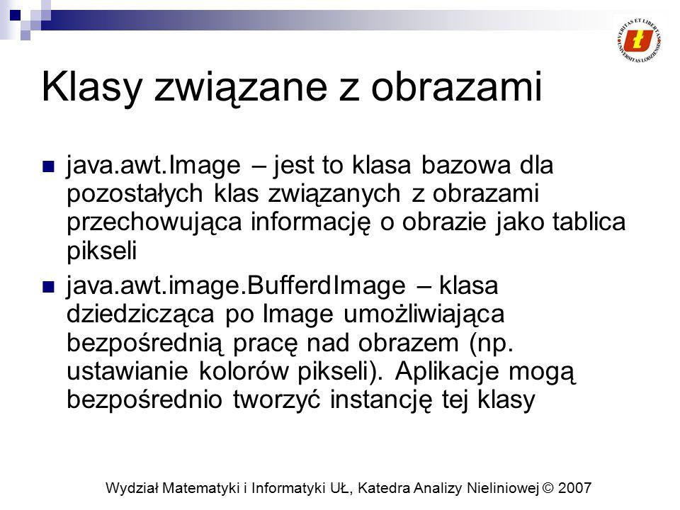 Klasy związane z obrazami