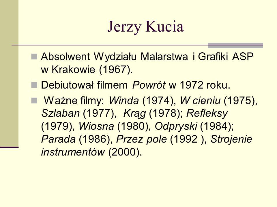 Jerzy Kucia Absolwent Wydziału Malarstwa i Grafiki ASP w Krakowie (1967). Debiutował filmem Powrót w 1972 roku.