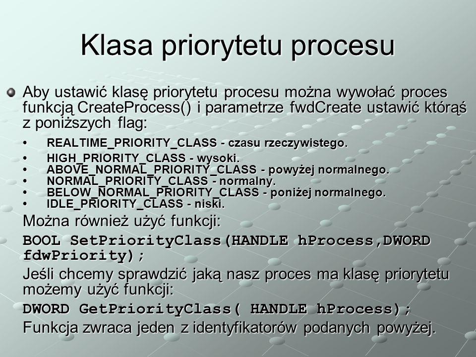 Klasa priorytetu procesu