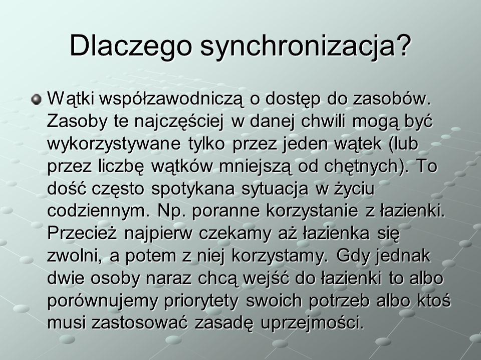 Dlaczego synchronizacja