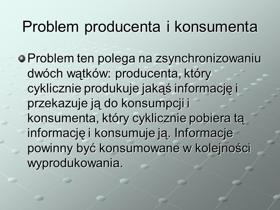 Problem producenta i konsumenta