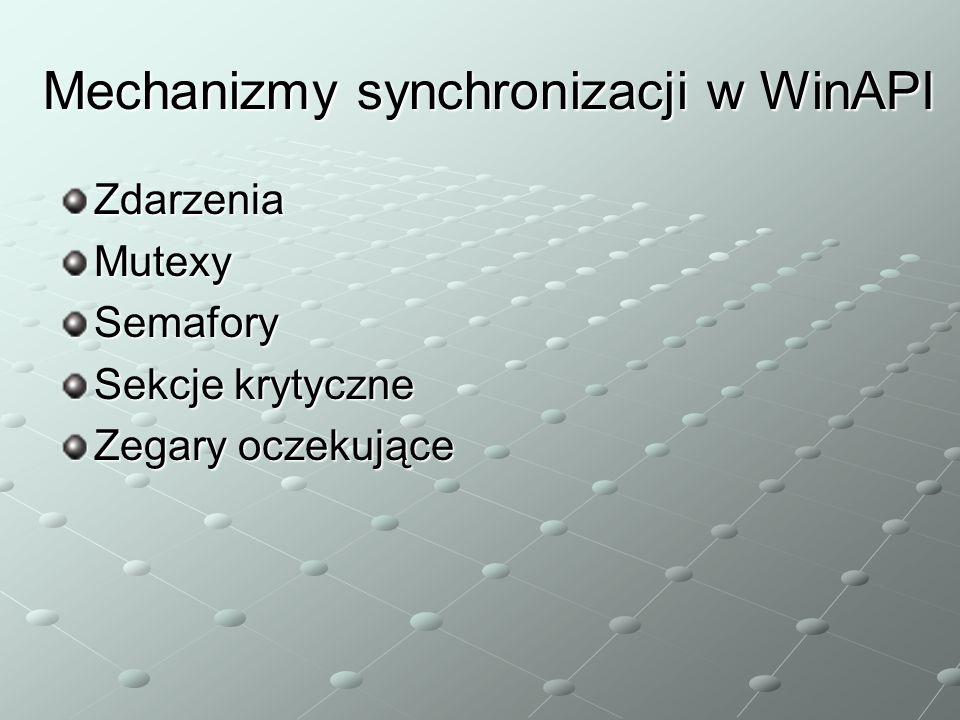 Mechanizmy synchronizacji w WinAPI