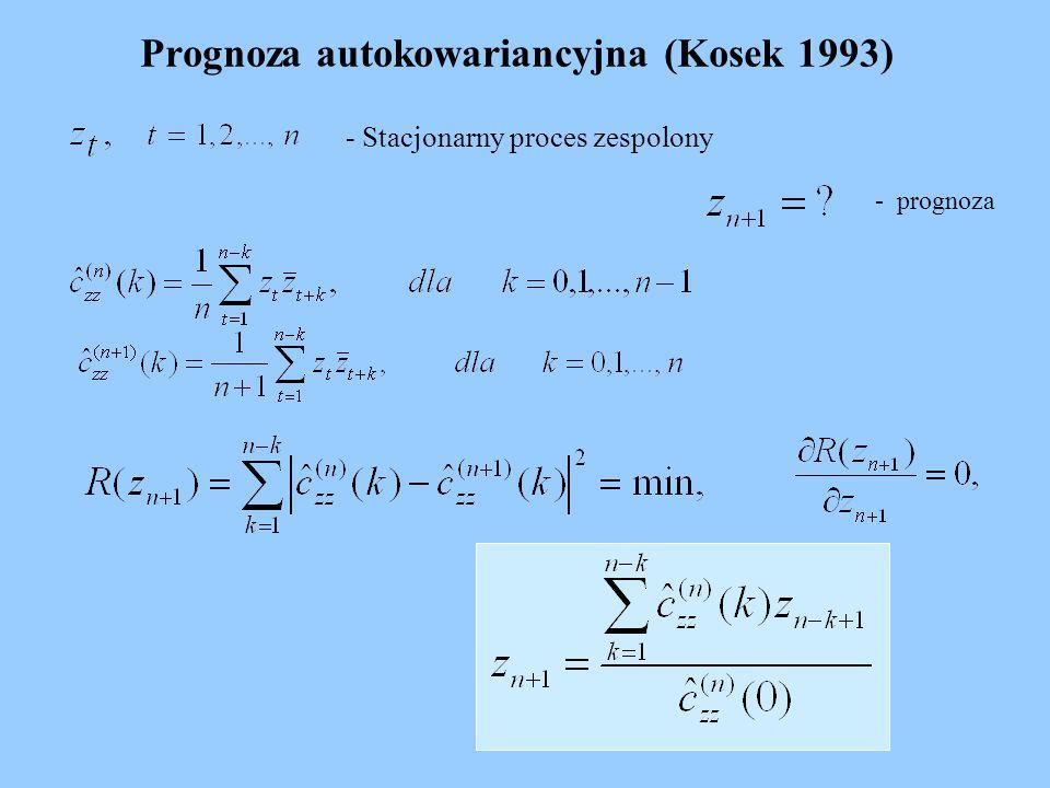 Prognoza autokowariancyjna (Kosek 1993)