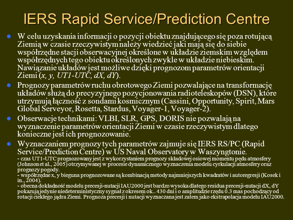 IERS Rapid Service/Prediction Centre