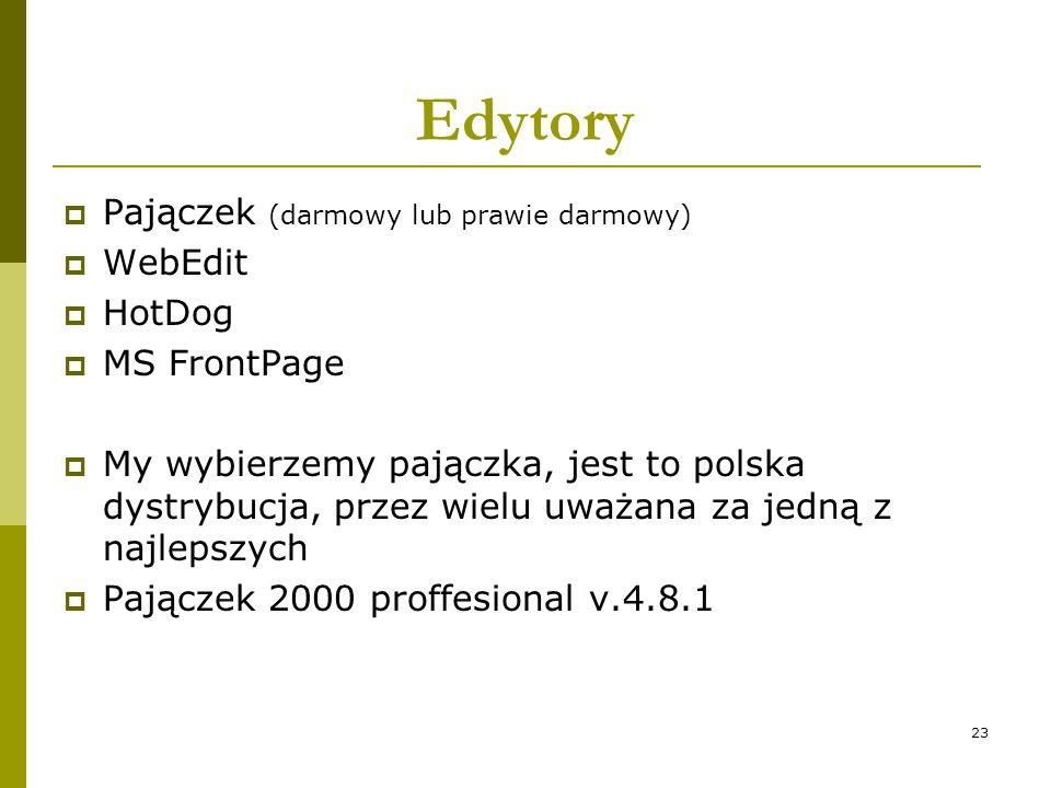 Edytory Pajączek (darmowy lub prawie darmowy) WebEdit HotDog