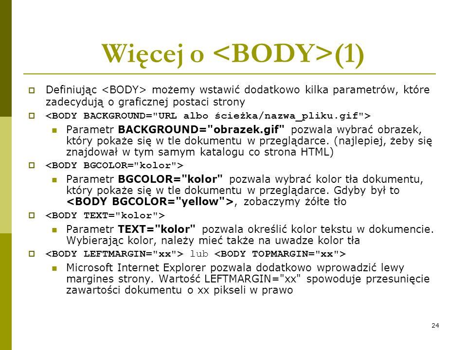 Więcej o <BODY>(1)