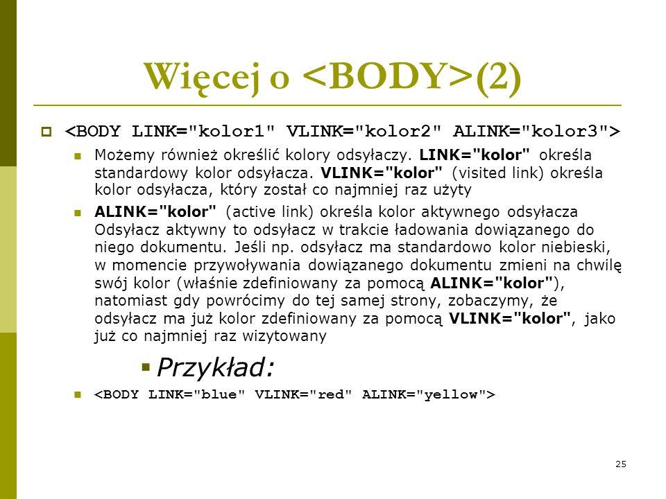 Więcej o <BODY>(2)