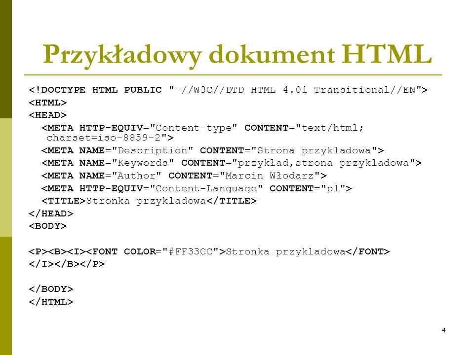 Przykładowy dokument HTML