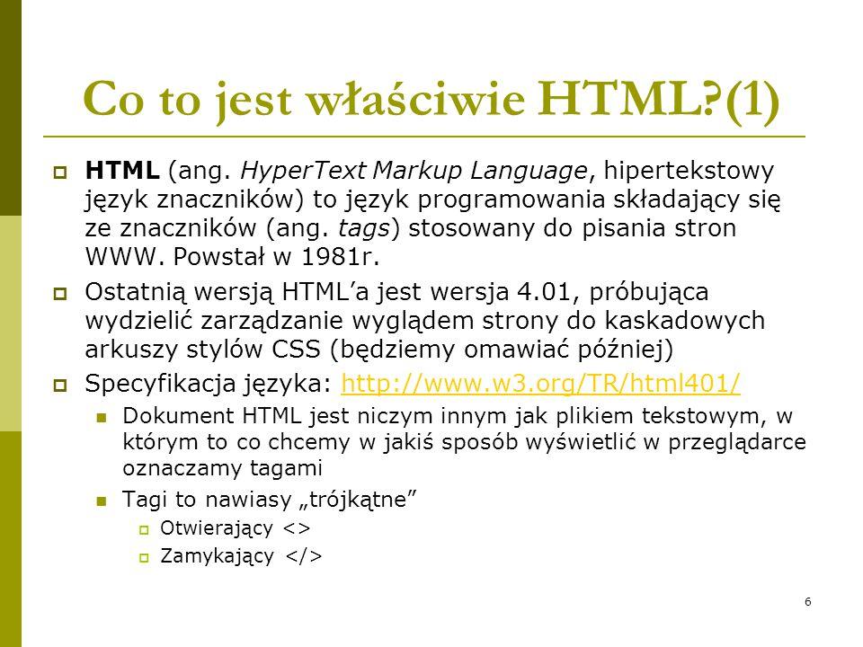 Co to jest właściwie HTML (1)