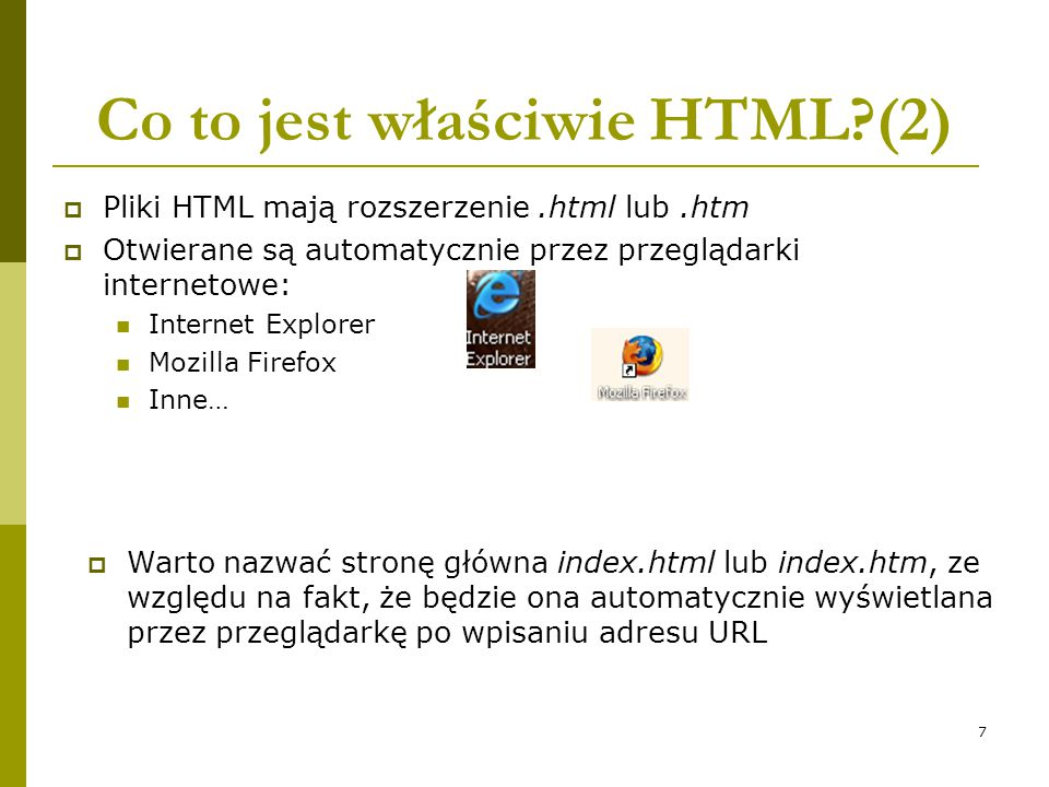 Co to jest właściwie HTML (2)