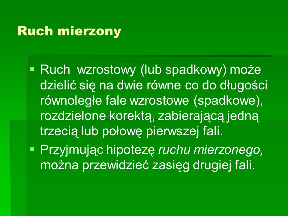 Ruch mierzony