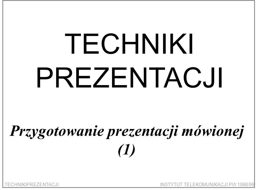 Przygotowanie prezentacji mówionej