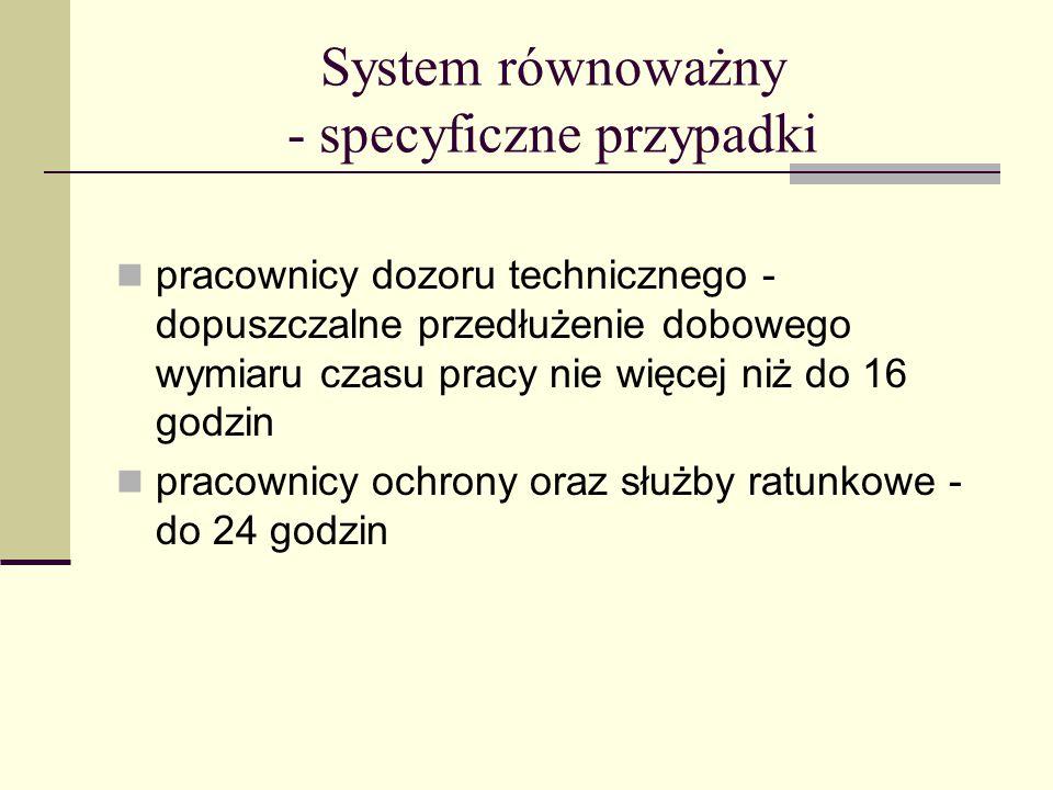 System równoważny - specyficzne przypadki