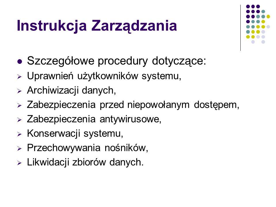 Instrukcja Zarządzania