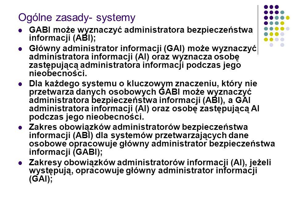 Ogólne zasady- systemy