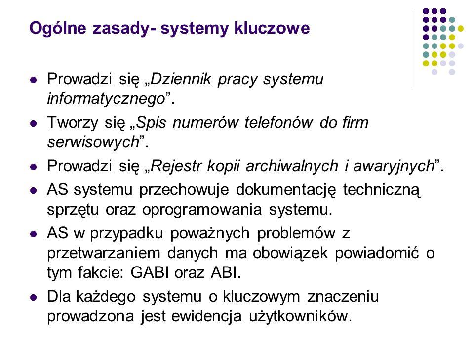 Ogólne zasady- systemy kluczowe
