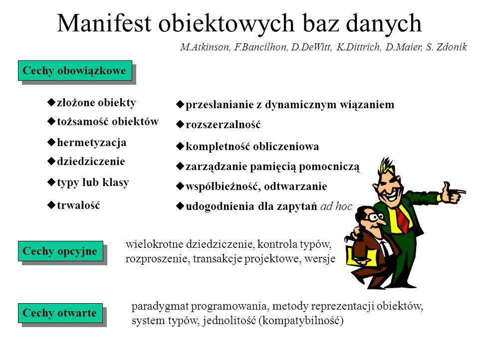 Manifest obiektowych baz danych