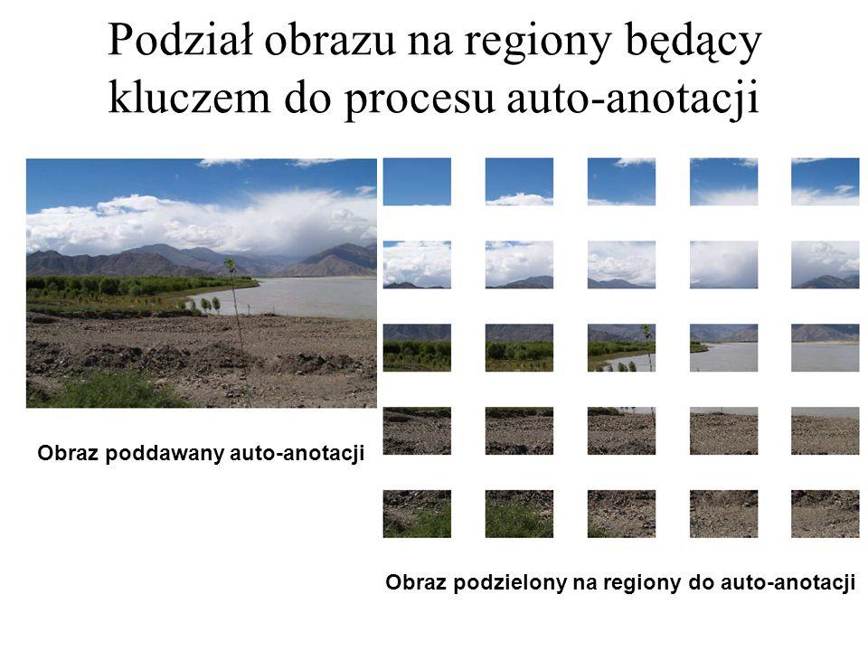Podział obrazu na regiony będący kluczem do procesu auto-anotacji