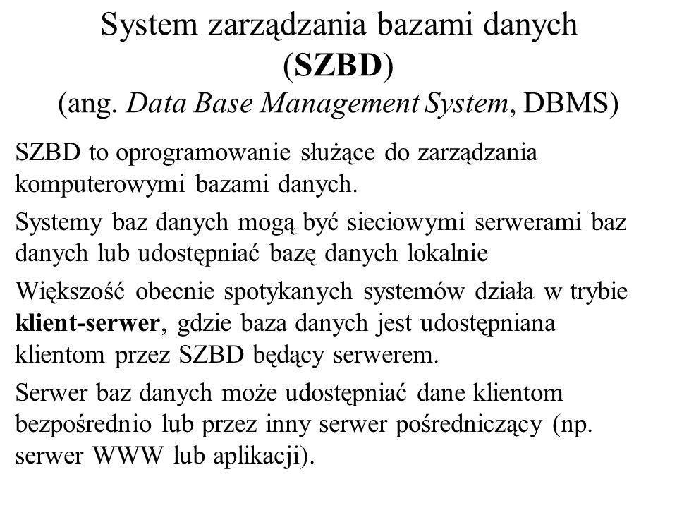 System zarządzania bazami danych (SZBD) (ang
