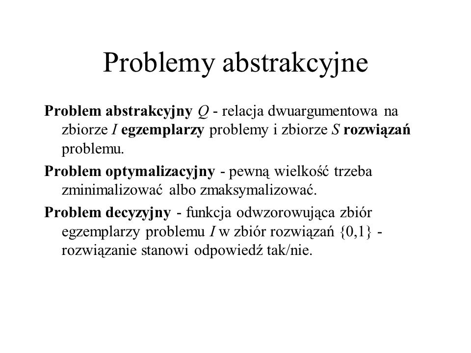 Problemy abstrakcyjne
