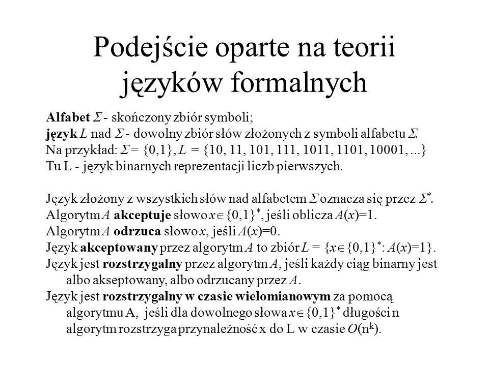 Podejście oparte na teorii języków formalnych