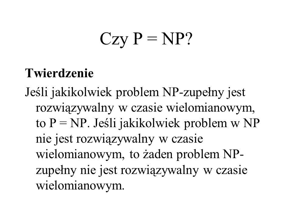 Czy P = NP Twierdzenie.