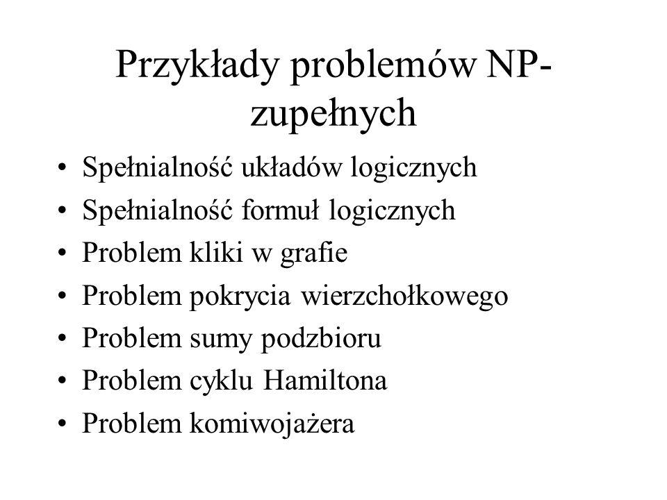 Przykłady problemów NP-zupełnych