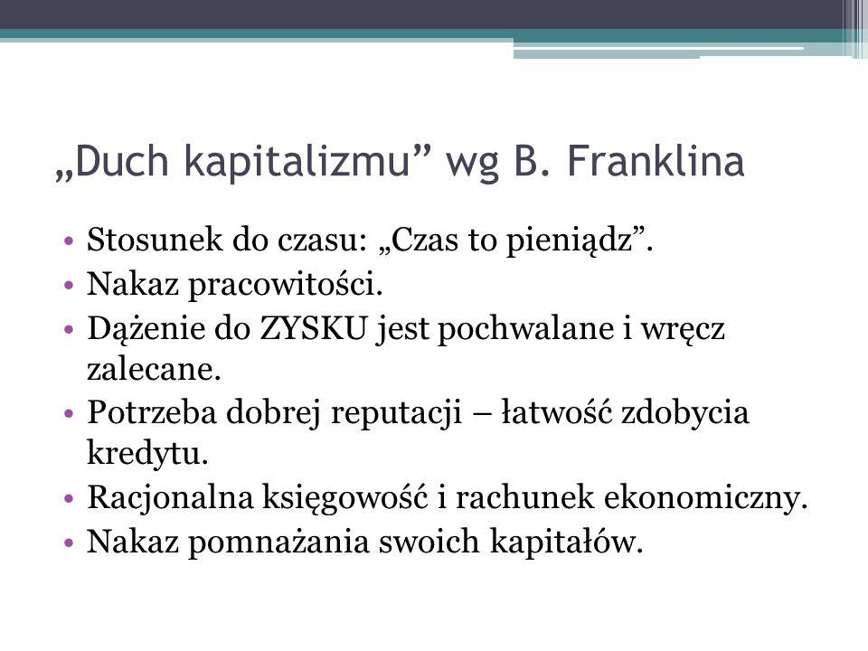 """""""Duch kapitalizmu wg B. Franklina"""