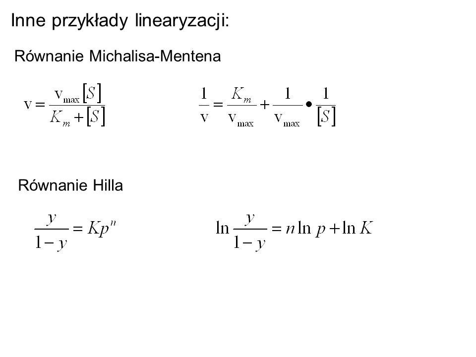 Inne przykłady linearyzacji: