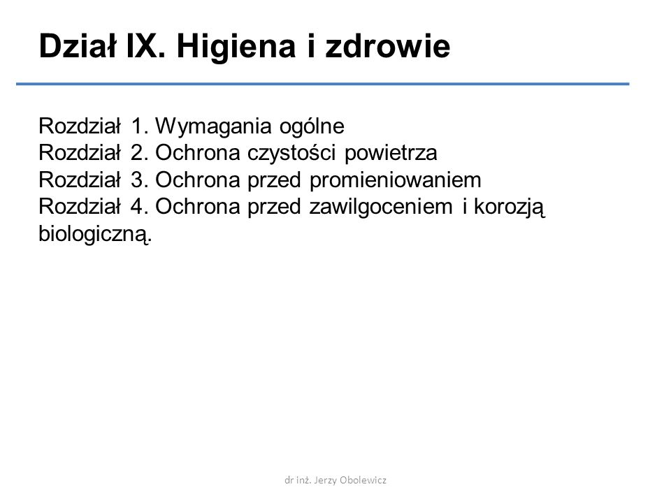 Dział IX. Higiena i zdrowie