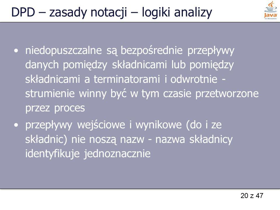 DPD – zasady notacji – logiki analizy