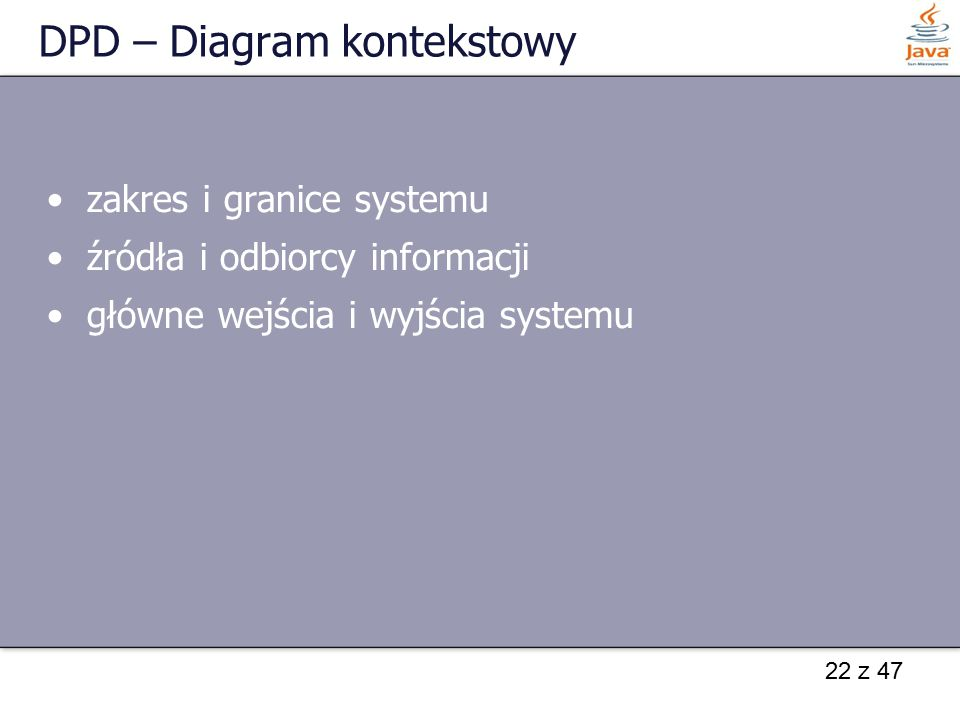 DPD – Diagram kontekstowy