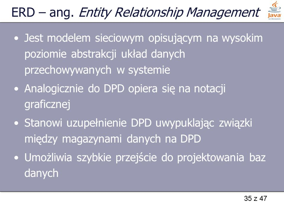 ERD – ang. Entity Relationship Management