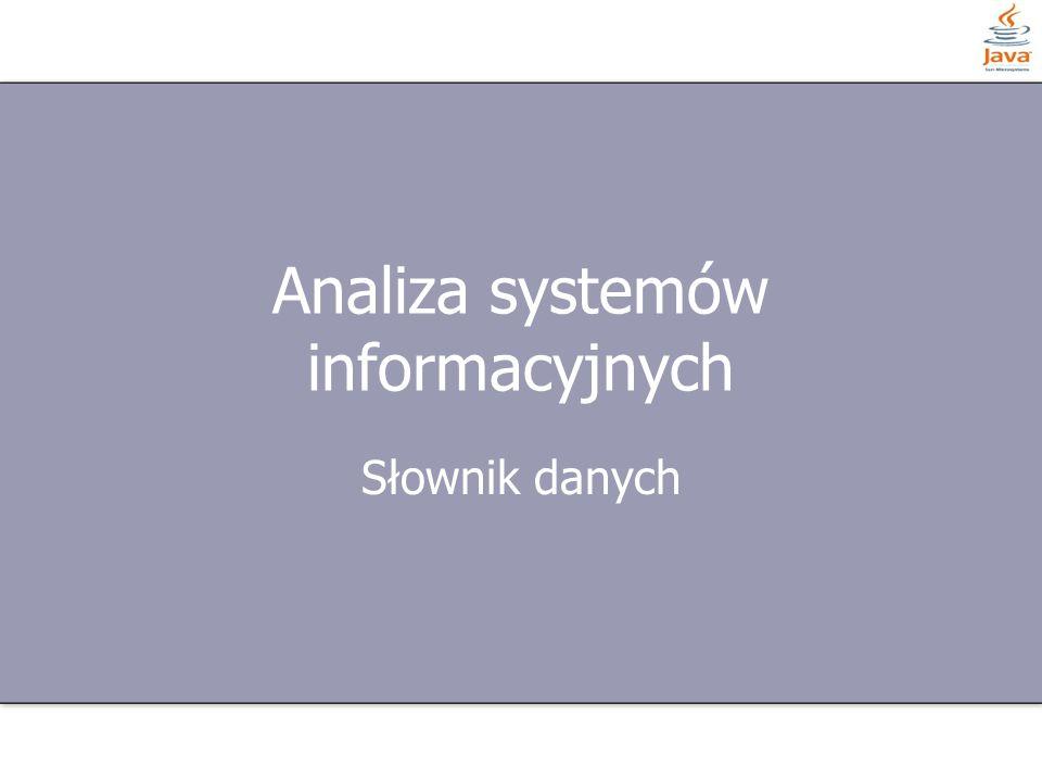 Analiza systemów informacyjnych